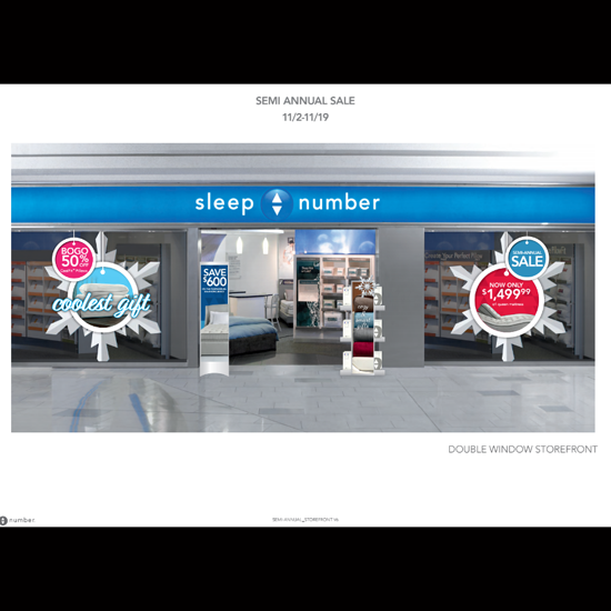 Sleep Number Store Front - Graphic Systems