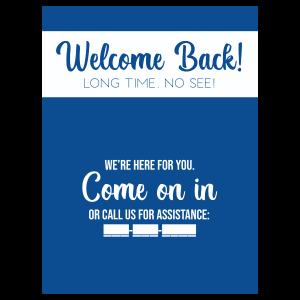 Welcome Back Window Blue Main